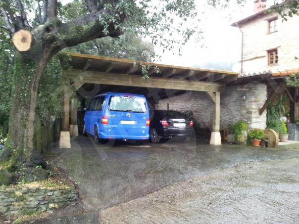 Cubierta coches a un agua